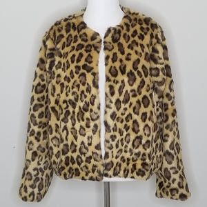 NWT Band of Gypsies | Leopard Faux Fur Coat | S